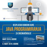 Besplatni kurs Java programiranja za srednjoškolce